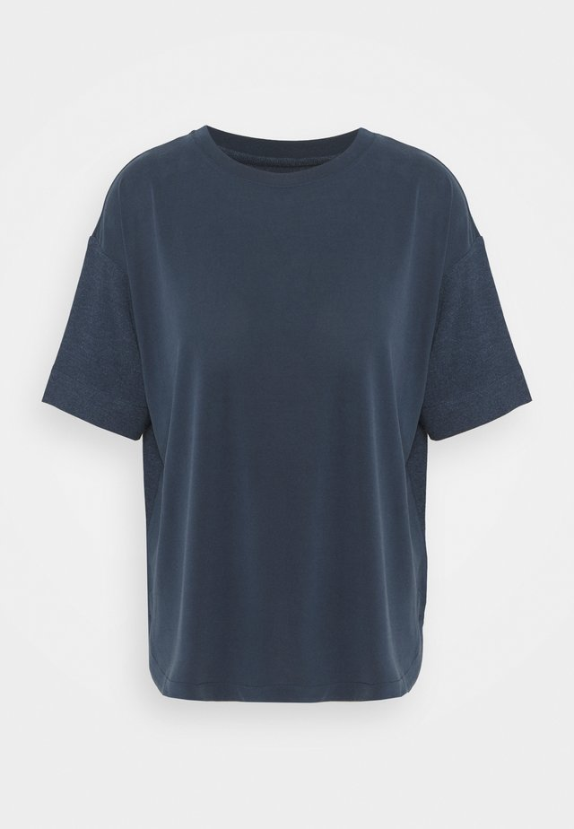 ECOV TEE - Print T-shirt - navy