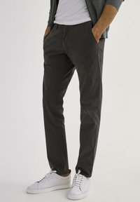 Massimo Dutti - SLIM FIT - Chinos - dark grey - 0