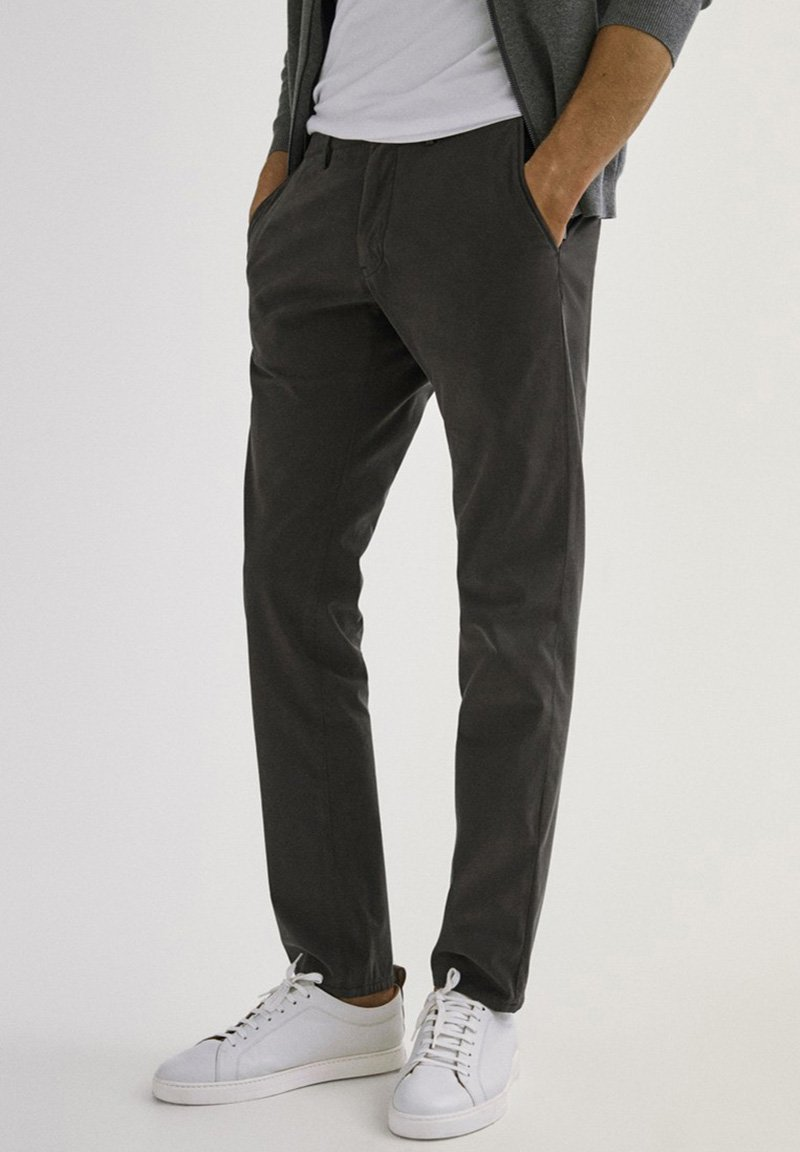 Massimo Dutti - SLIM FIT - Chinos - dark grey