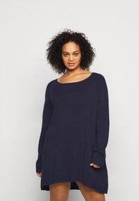 Even&Odd Curvy - Pullover - blue - 0
