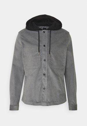 HOODED OVERSHIRT - Camicia - light grey / black hood