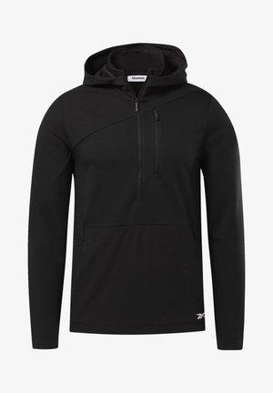 TRAINING SUPPLY CONTROL HOODIE - Bluza z kapturem - black