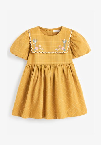 EMBROIDERED - Day dress - ochre