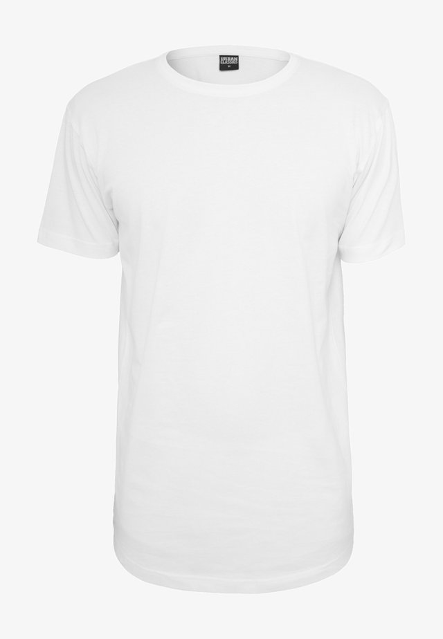 SHAPED LONG TEE DO NOT USE - T-shirt basique - white