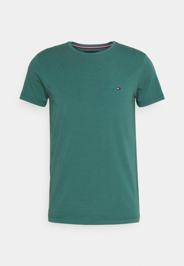 STRETCH SLIM FIT TEE - Basic T-shirt - sea steel