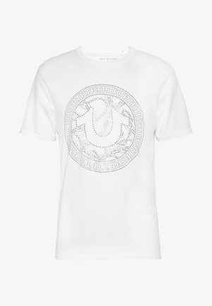 CREW NECK BRANDED - T-shirt z nadrukiem - white