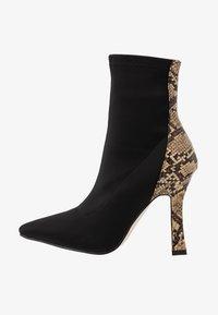 RAID - OLINIA - High heeled ankle boots - black/beige - 1