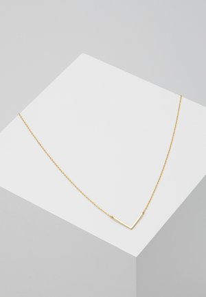 CLEAN V NECKLACE - Collana - pale gold-coloured