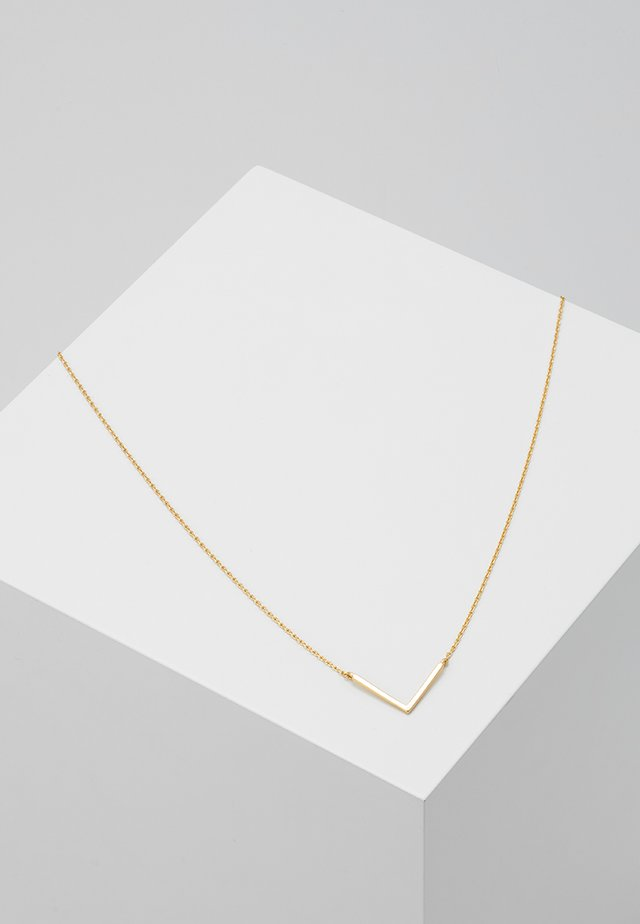 CLEAN V NECKLACE - Smykke - pale gold-coloured