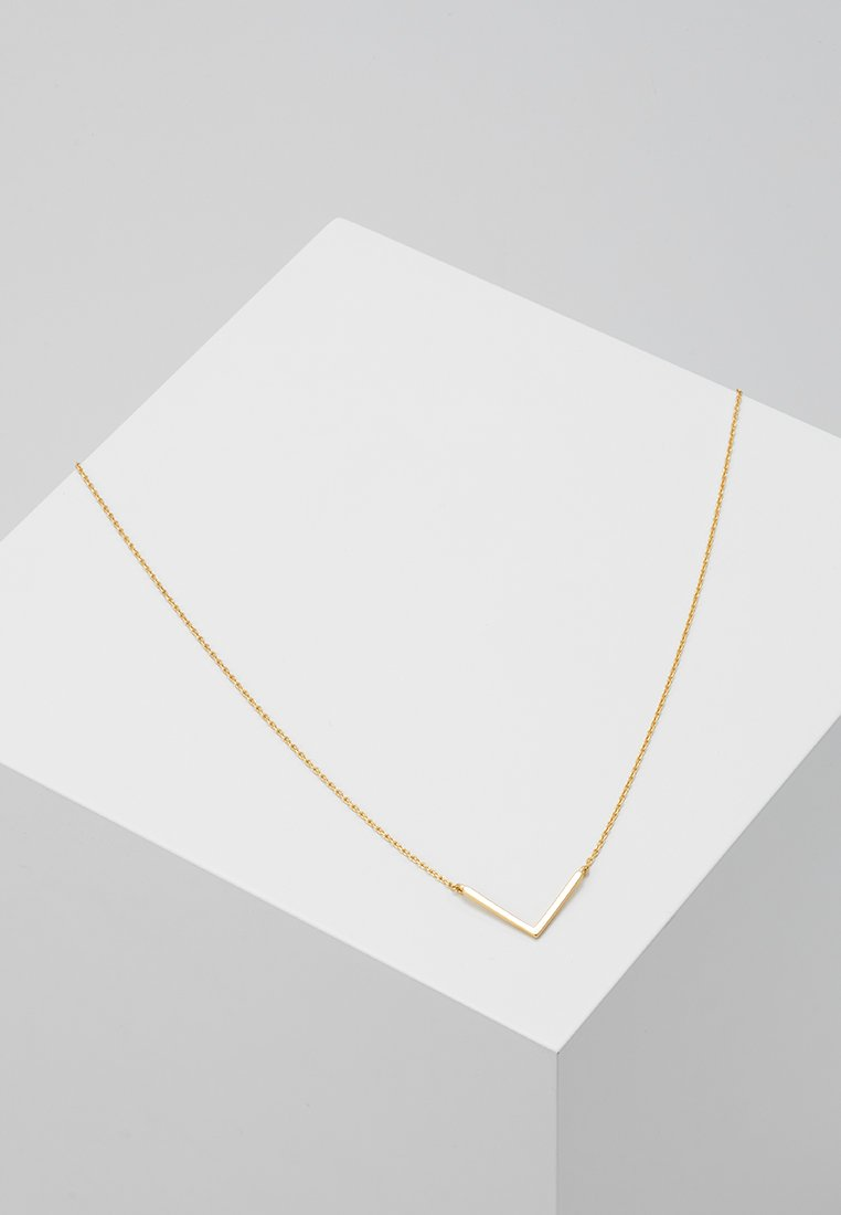 Orelia - CLEAN V NECKLACE - Collar - pale gold-coloured