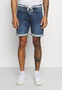 Redefined Rebel - SYDNEY TERRY - Denim shorts - hard blue - 0
