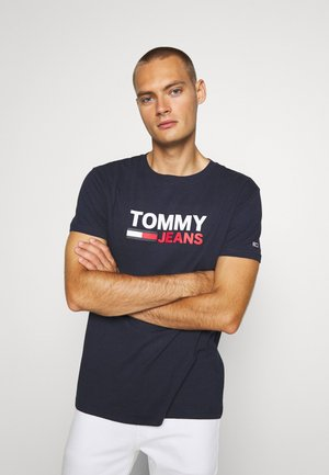 CORP LOGO TEE - Print T-shirt - twilight navy