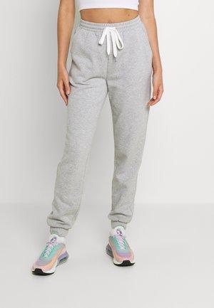 OBJKAISA PANT - Teplákové kalhoty - light grey melange