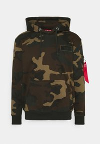 Alpha Industries - BACK HOODY CAMO - Hoodie - woodland - 0