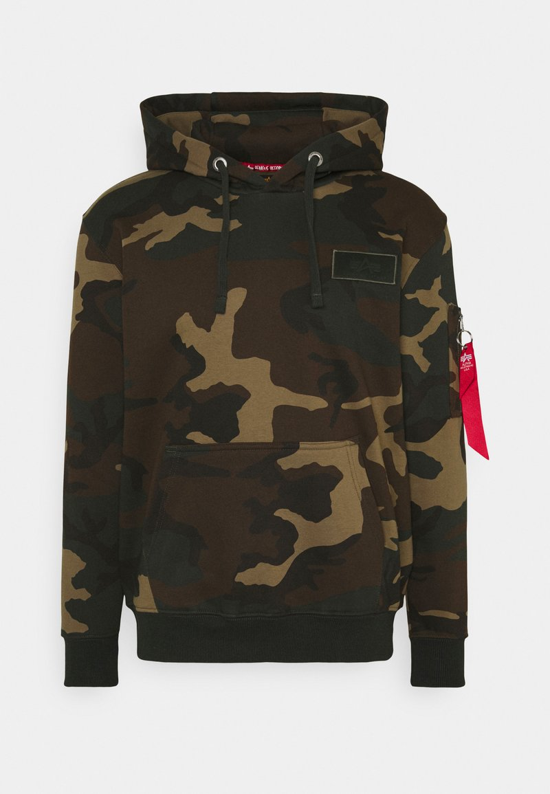 Alpha Industries - BACK HOODY CAMO - Hoodie - woodland