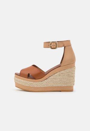 CITRONELLA - Platform sandals - plain camel