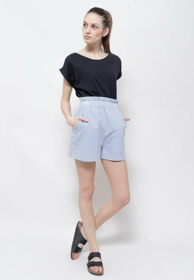 Short - navy blue-white