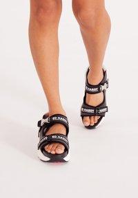 Ed Hardy - AQUA  - Walking sandals - iridescent charcoal - 0
