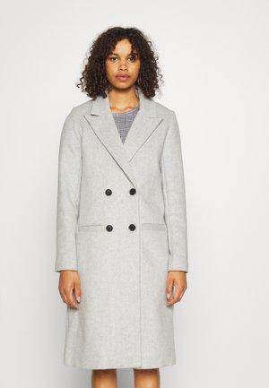 OBJLINEA COAT - Klasický kabát - light grey melange