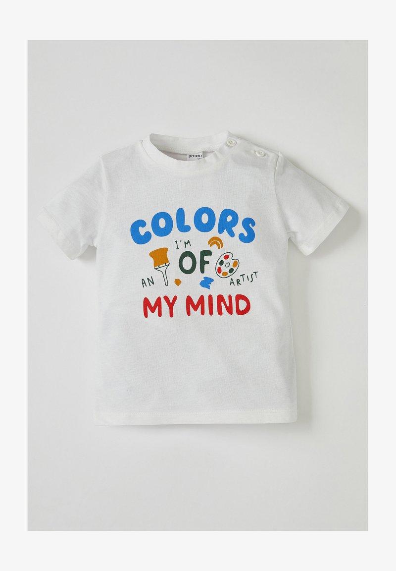 DeFacto - Print T-shirt - white