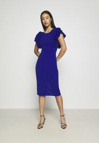 WAL G. - KENSLEY RUFFLE SLEEVE DRESS - Day dress - electric blue - 0