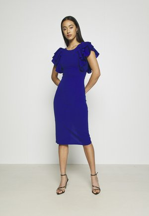 KENSLEY RUFFLE SLEEVE DRESS - Denní šaty - electric blue