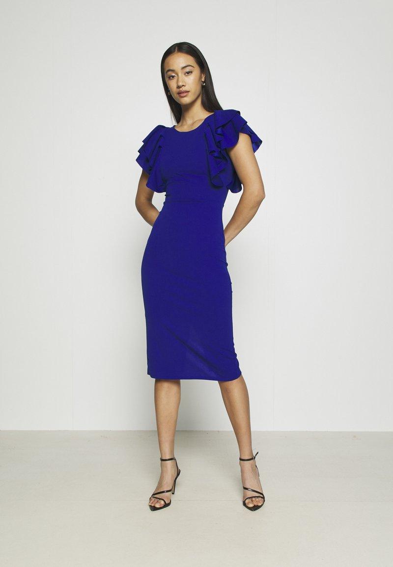 WAL G. - KENSLEY RUFFLE SLEEVE DRESS - Day dress - electric blue