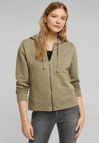 edc by Esprit - Zip-up sweatshirt - khaki - 0