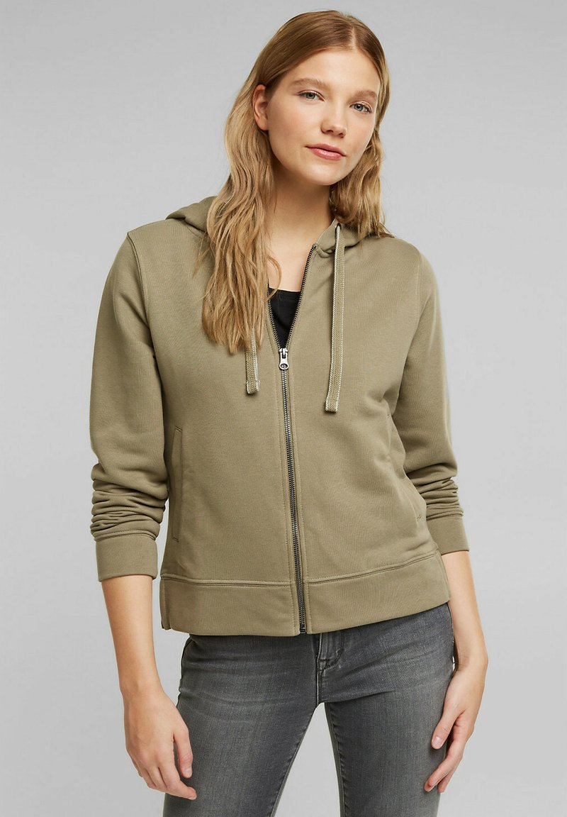 edc by Esprit - Zip-up sweatshirt - khaki