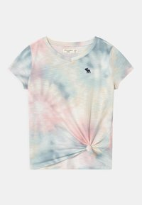 Abercrombie & Fitch - KNOT FRONT  - T-Shirt print - pink - 0