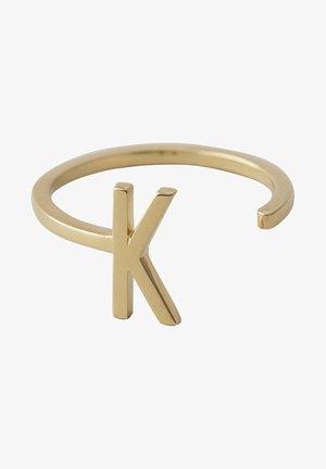 RING K - Bague - gold
