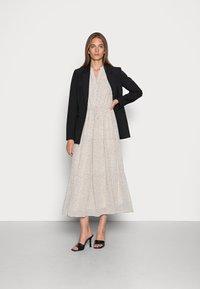 Selected Femme - SLFGAIA DAMINA ANKLE DRESS  - Maxi dress - birch - 1