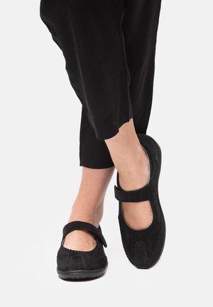 Ballerina's met enkelbandjes - schwarz