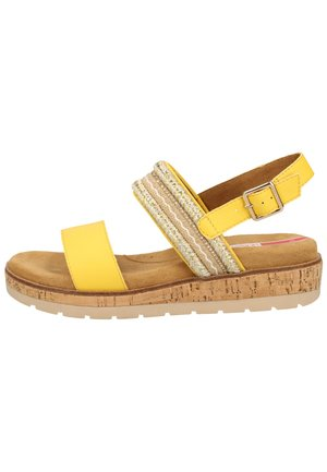 Sandalen met plateauzool - yellow 600