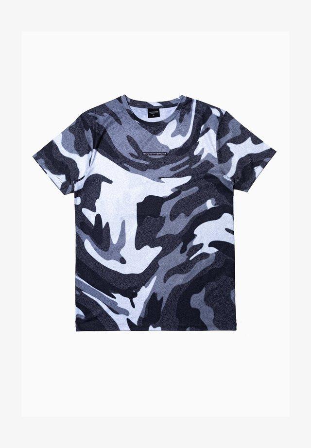 Print T-shirt - white/grey