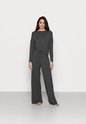 JERSEY WIDE LEG PJ SET  - Pyjama - dark grey