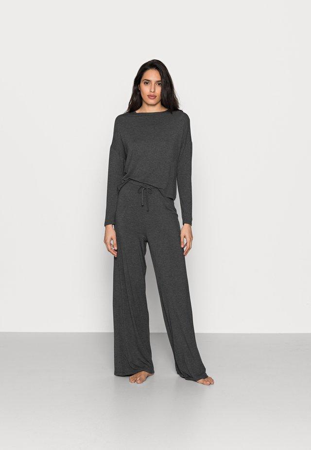 JERSEY WIDE LEG PJ SET  - Pyjamas - dark grey