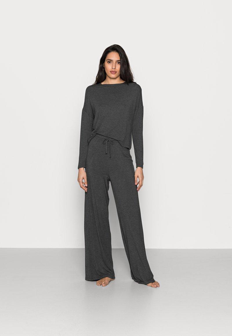 Anna Field - JERSEY WIDE LEG PJ SET  - Pyjama set - dark grey