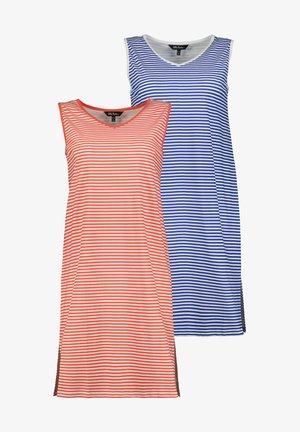2 PACK - Pyjamashirt - dunkles azurblau