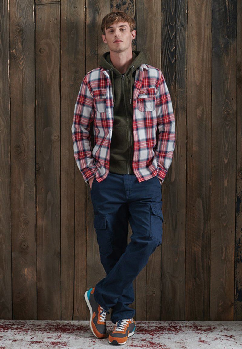 Superdry - ORANGE LABEL - Zip-up hoodie - winter khaki grit