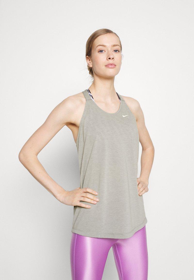 Nike Performance - DRY ELASTIKA TANK - Treningsskjorter - smoke grey
