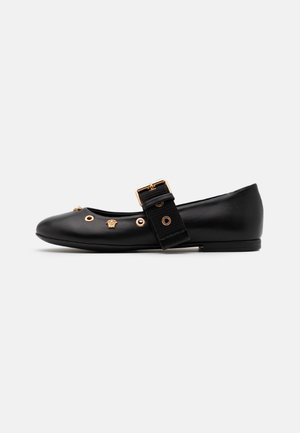VELE MEDUSE - Sandals - black/gold
