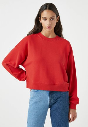 MIT BREITEM PATENTMUSTER - Sweatshirt - red