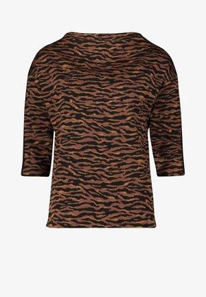 MIT HOHEM KRAGEN - Sweatshirt - schwarz/braun