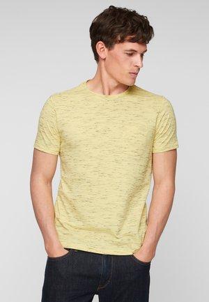T-shirt basic - light yellow melange