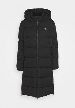 PEACHED LONG PUFFER - Winter coat - black