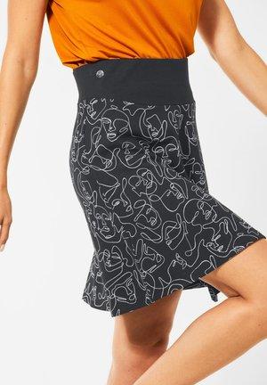 MIT LINE ART - A-line skirt - schwarz