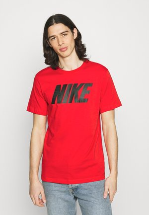 TEE ICON BLOCK - Print T-shirt - university red/black