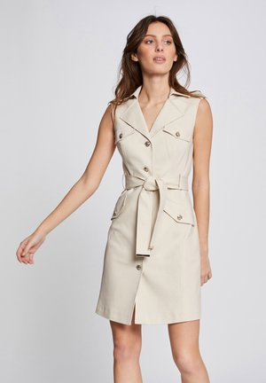 BELTED - Shift dress - beige