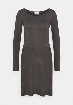 VISOLISTA O NECK DRESS - Vestido de punto - dark grey melange
